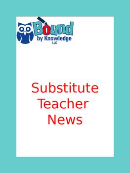 Substitute Teacher Report (editable)