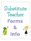 Substitute Teacher Resource Pack - Secondary, Middle Schoo
