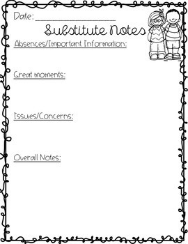Substitute Teacher Resources
