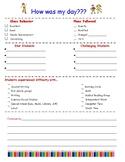 Substitute Teacher Response Sheet