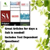 Substitute Teacher Science Articles