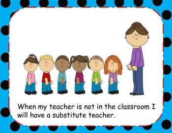 Substitute Teacher Social Story Packet