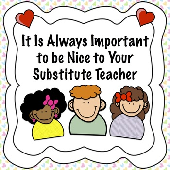 Substitute Teacher Social Story