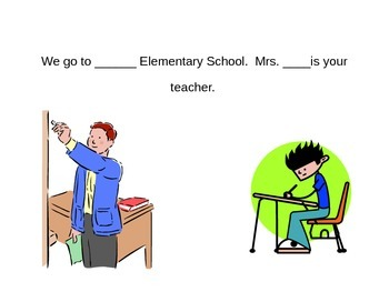 Substitute Teacher Social Story - Editable