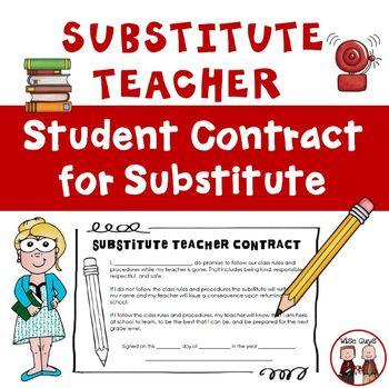 Substitute Teacher Student Contract