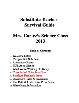 Substitute Teacher Survival Guide