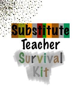 Substitute Teacher Survival Kit