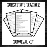 Substitute Teacher Survival Kit (FOR SUB)