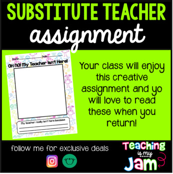 Substitute Teacher Work - My Teacher Isn't Here