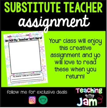 Substitute Teacher Work - My Teacher Isn't Here