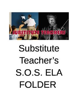 FIRST DAYS BACK Substitute Folder for ELA PREP FREE