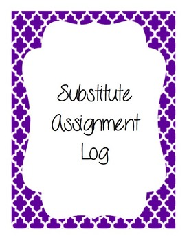 Substitute Teaching Binder - A resource FOR substitutes!