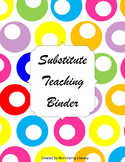 Substitute Teaching Binder for Middle and High School