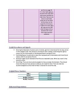 Substitute Teaching Information SAMPLE
