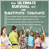 Substitute Teacher - Substitute Teaching Activities Survival Kit