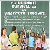 Substitute Teacher - Substitute Teaching Activities Survival Kit PRINT & DIGITAL