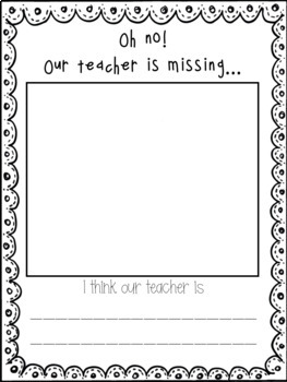 Substitute Writing Activity