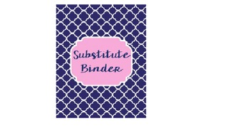 Substitute and Maternity Leave Binder