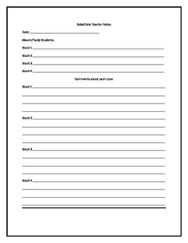 Substitute form