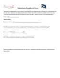 Substitute guest teacher feedback form