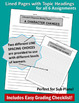 Substitute or Everyday Common Core Writing Activities for ANY Literature