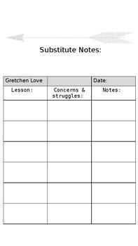 Substitute recording sheet