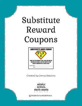 Substitute's Super Student Reward Coupon