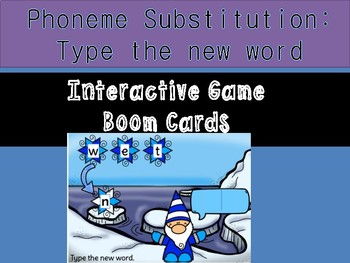 Substitute the phoneme: initial sound Self checking Boom Cards
