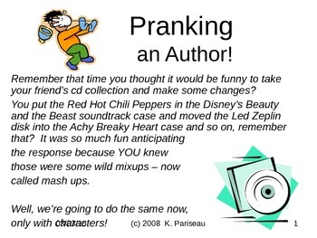 Substituting Characters and other Story Pranks!
