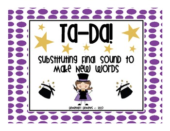 Substituting Final Sound to Make Words
