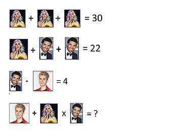 Substitution Activity Using Celebrities