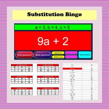 Substitution Bingo