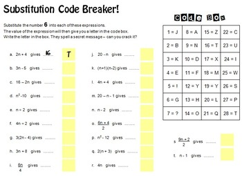 Substitution Code Breaker!