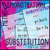 Substitution Demonstration -- Solving Linear Systems by Substitution