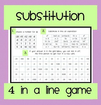 Substitution Game - Four in a Line!