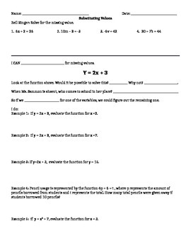 Substitution Guided Notes