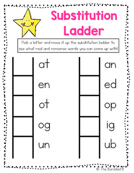 Substitution Ladder with Vowel Consonant Blends