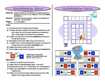 Substitution Spiral: One and Two Step Equation Game (Algebra Games)