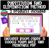 Substitution and Elimination Method Boom Cards, Google Qui
