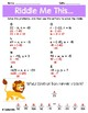 Substitution with Positive and Negative Integers Math Riddles Pack