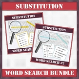 Algebra - Substitution BUNDLE Word Search #1 & #2