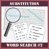 Algebra - Substitution Word Search Worksheet #2