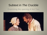 Subtext In The Crucible PowerPoint Presentation
