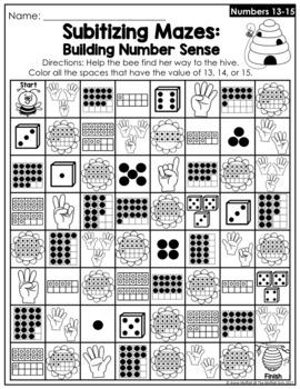 Subitizing (Number Sense) Spring Edition