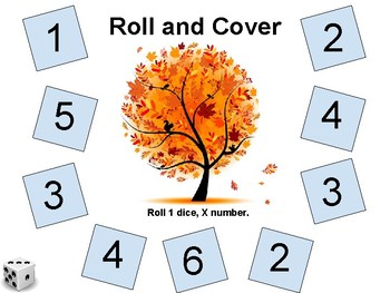Subitizing - Fall Roll and Cover