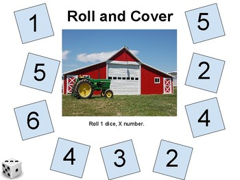 Subtize - Fall Roll and Cover Packet (3 different themes)
