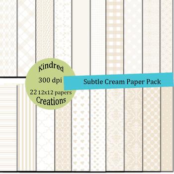 Subtle Cream Paper Set