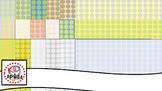 Subtle Dot Patterns 12x12 Greens Greys Golds Oranges Blues