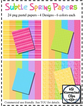 Subtle Spring Papers