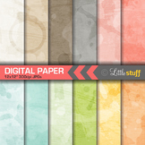 Subtle Watercolor Digital Papers, Water Colour Digital Backgrounds